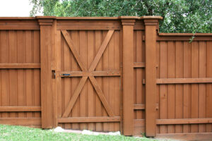 gorgeous wood fence gate