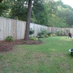 custom built wood fence