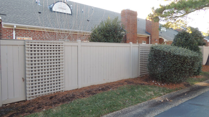 commercial fence project