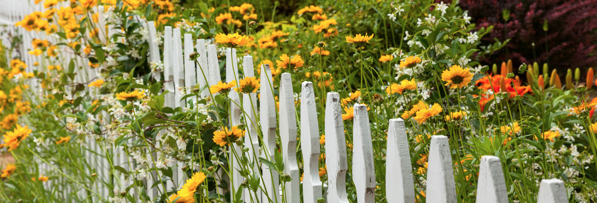 white picket fence construction